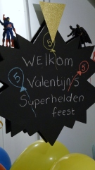superhelden welkomstbord