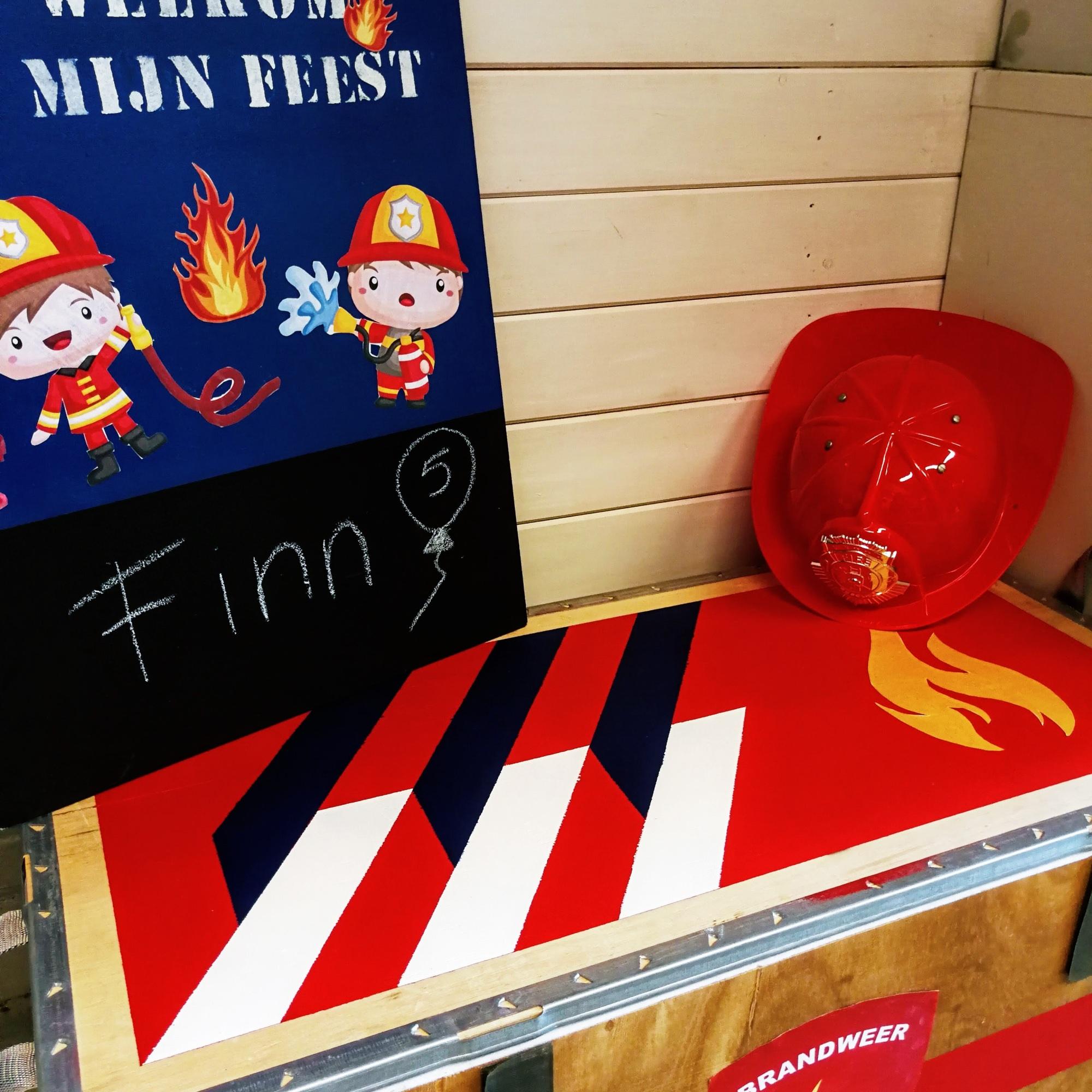 Brandweer kinderpartijtje Leiden